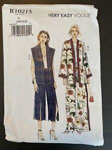 R10215 VOGUE Pattern Sewing Vest Jacket Pants NEW UNCUT Large Extra Large