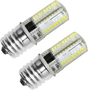 E17 LED Bulb Microwave Oven Stove Appliance Light 4 Watt 40W Halogen Bulb 2 Pack