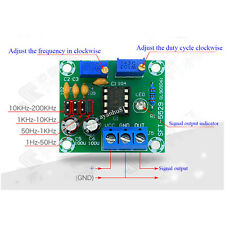5V-12V NE555 Pulse Signal Square Wave Signal Generator Duty Cycle Adjust for MCU
