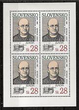 Europa CEPT, Slowakei 1994 Mi 191 im Kleinbogen postfrisch KW 15,00€