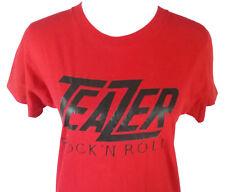Teazer Band Womens Medium T Shirt Red Black Vintage 1980s 80s Rock N Roll Ohio
