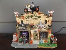 Spooky Town Lemax Halloween Village~Chop Shop Garage & Salvage~Lights & Sounds~
