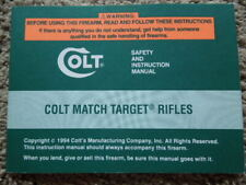 New listing Original Colt Match Target Rifles Factory Safety And Instruction Manual 1994