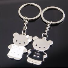 One pair Couples Keychain set Bear Couple Keyring For Lover Valentines Gift TW