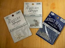 NEW STERLING SILVER 925 THE JEWELRY SHOPPE CAPS, DAISY SPACER BEADS 17+PC, 3PKS