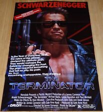 THE TERMINATOR 1980s ORIGINAL VHS HOME VIDEO MOVIE POSTER ARNOLD SCHWARZENEGGER