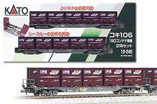 10-245 Coffret de 2 wagons conteneurs marchandises KATO N 1/160