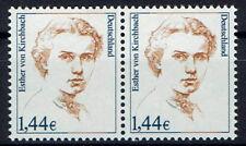 2297 **, BRD 2002, Esther von Kirchbach, waagr. Paar