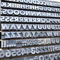 60p FUTURA FETT - Bleisatz Buchdruck Handsatz Letterpress Type Bleilettern Druck
