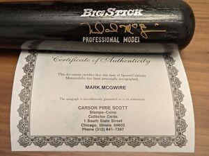 mark mcgwire autographed bat