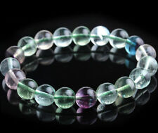Beads Stretchy Bracelet 7.5'' Aaa Genuine 8mm Natural Multi-color Fluorite Round