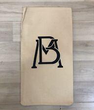 Mexico Original Canvas Sack Bag Bank Of Mexico Deposit Bag