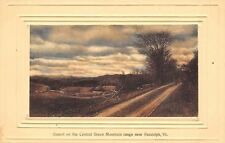 Randolph Vermont~Cloudy Sky Sunset~Rail Fence~Dirt Road Ruts~Emboss Frame~1910