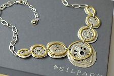 Silpada Sterling Silver Brass Etched Bohemian Boho Bib Necklace N2861 RET
