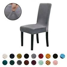 Stretch Elastic Solid Chair Cover Dining Room Wedding Banquet Party Wrap Seat