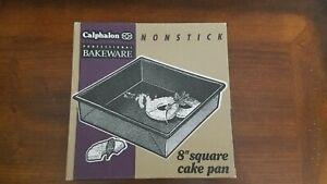 "CALPHALON PROFESSIONAL NONSTICK 8"" SQUARE CAKE PAN - NIB"