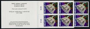 Switzerland B636a Booklet MNH Christmas, Bird