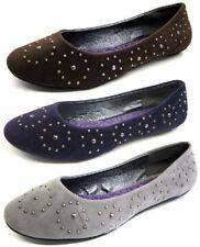 Zapatos planos de mujer gris textiles