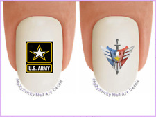 Nail Art #5651 Military US Army Star Emblem WaterSlide Nail Decals Transfers