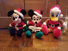 Disney Christmas Plush Mickey, Minnie & Donald Duck.