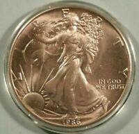 Low Mintage 1986 American Silver Eagle Dollar / Troy Oz .999 Fine Silver