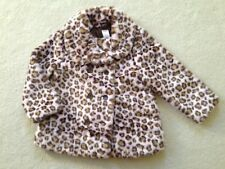 GYMBOREE Girl's Glamour Kitty Pink Brown Leopard Faux Fur COAT Size 5-6 NWOT
