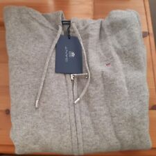GANT womens hoodie XS, grey. New with tags. Lambswool.
