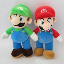 "2 New Super Mario Bros Plush Doll Mario Luigi Soft Toy Stuffed Animal Teddy 10"""