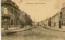 Belgium Saint Ghislain - Rue du Port old sepia postcard