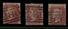 PENNY REDS SCOTLAND PERTH 280 DUPLEX NUMERAL...3 Plates...124 159 165