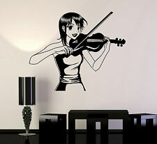Vinyl Wall Decal Anime Girl Manga Music Violinist Teen Room Stickers (ig4503)