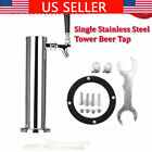 """3"""" Tap Single Faucet Draft Beer Tower Homebrew Bar Stainless Steel For Kegerator"""