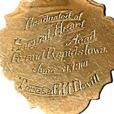 10K GOLD PENDANT Grand Rapids, Iowa.  1910