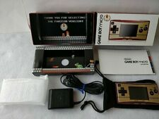 Nintendo Gameboy Micro Famicom 20th Anniversary Editon console OXY-001 set-c0228
