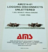 BEAUTY Accucraft AMS AM2214-01 LOGGING DISCONNECTS UNLETTERED LOG CAR~LGB G~MIB