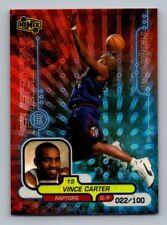 1998-99 UD Ionix RECIPROCAL R65 Vince Carter RC Rookie #22/100 Toronto Raptors