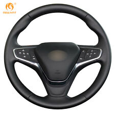 Black Leather Steering Wheel Cover for Chevrolet Malibu XL 2016 2017 #CH08