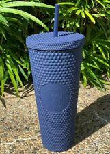 💥 Singapore 2020 Starbucks Studded Tumbler Venti 24oz Matte Navy Blue 💥