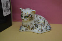 """Royal Crown Derby Paperweight """"MILLIE"""" The Kitten  1st Quality & Orig Box   NEW"""