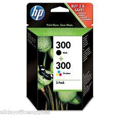 Original Genuine HP 300 Black & Colour Combo Pack for Deskjet F4580 (CN637EE)