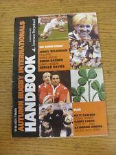 Nov-2006 Rugby: i tempi gli Incontri Internazionali d'autunno MANUALE. buone condizioni U