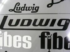 Ludwig Black Late 70's/80's - current Logo Replacement Sticker