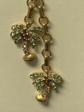 Necklace Gold Tone 18 Inch Adjustable Adorable Kirks Folly Double Palm Tree
