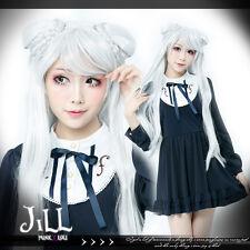 anime cosplay lolita Chinese Paladin fox spirit braid buns straight wig JPLH077