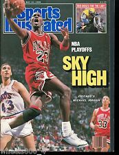 Sports Illustrated 1988 Chicago Bulls Michael Jordan 5-16-88 No Label Excellent
