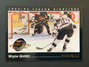 1993-94 WAYNE GRETZKY PINNACLE 802 CAREER GOAL #512 LOS ANGELES KINGS