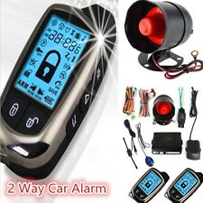 New Universal Car Alarm Security System 2 Way LCD Super Long Distance Antitheft