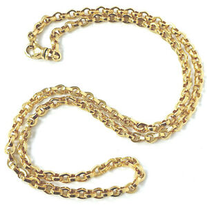 9ct Gold Belcher Chain Solid Links Fully Hallmarked 45g 26 Inches 5mm Wide