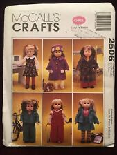 """McCall's Crafts Uncut Gotz American Girl 18"""" Doll Clothes Pattern 2506 OOP"""