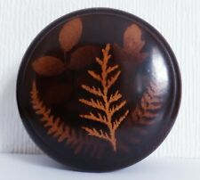More details for antique scottish fern pattern mauchline ware six spool thread box 4